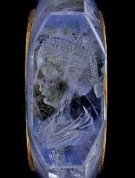 고대 로마 황제의 사파이어 반지